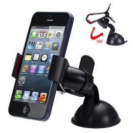 Wholesale Silicone Suckers - 360 Universal Car Mount degree mobile phone holder Silicone Sucker Type GPS Holder for Cell Phone, GPS, PDA, MP4