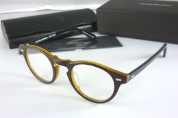 2019 i telai di vetro all'ingrosso di moda Oliver Peoples struttura di vetro mens telaio dell'ottica delle donne degli occhiali neri cornice OV5186 Gregory Peck occhiali vengono con la scatola