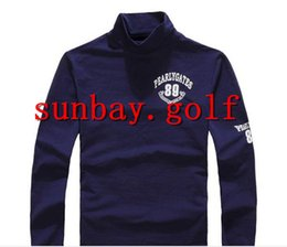 Wholesale Orange Golf Clubs - New JAPAN Golf T Shirts Men's Cotton ROUND NECK Anti-sweat Great Quality GOLF CLUBS LONG sleeve tees tops For PG 89 Pearly Gates