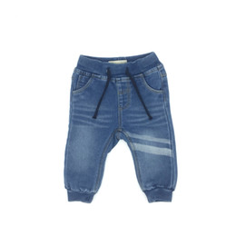 Wholesale light soft blue jeans - Baby Clothing Boy Jeans Pants Long Knitting Denim Soft Solid Striped Fashion Infant Size Baby Pants