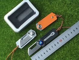 Wholesale Wilderness Tactical - HX OUTDOORS 2016 EDC armycard AUS - 8 folding knife wilderness survival knife blade G10 handle black carbon fiber EDC tool