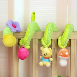 Wholesale Activity Spiral - Baby Rattles Infant Toys Cute Bear Green Bell Spiral Activity Stroller Car Seat Cot Lathe Hanging Baby Play Travel Toys