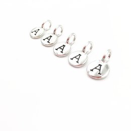 Wholesale alphabets charms - Personalized 26 Initial Letter from A~Z Hand Stamped Alphabet Om Tierra Cast Style Charms