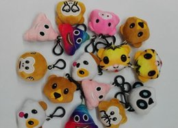 Wholesale Toy Cars For Cheap - 5.5cm Plush Emoji Keychains Stuffed Toys Cell Phone Backpacks Pendant Mixed QQ Keyrings for Cheap Promotion Gifts Wholesale