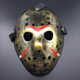 Маска убийцы джейсона онлайн-DHL! Горячая маска Хэллоуина Новый Джейсон Косплей маски Костюмированная вечеринка Ужас смешная маска Хэллоуин Маска Убийцы