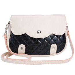 Wholesale Wholesale Patchwork Leather Handbags - Wholesale-2016 Women Handbag Fashion Patchwork Lady Clutches Panelled PU Leather Solid Shoulder Bags Envelope bolsa feminina