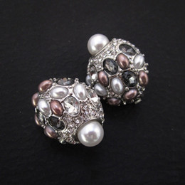 orecchini a vite di strass Sconti orecchini a clip in vetro di cristallo strass elegante oceano elegent si sente orecchini di perle multicolore di alta qualità
