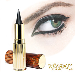 Wholesale Thick Easy Wholesale - 12pcs lot Party Queen Arabic Kajal Gel Eyeliner Solid Thick Black Waterproof Eyes Liner Cream Makeup and Beauty