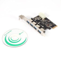 Wholesale Pci Sound Cards - 4 Port USB 3.0 PCI Express Cards For Laptop XP Win7 PCI-e 5.1channels Sound Card Free Shipping