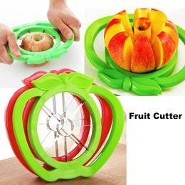 2019 tallos de fresa de plastico Corer Slicer Easy Cutter Cut Fruit Knife Cutter para Apple Pear envío de alta calidad OTH321