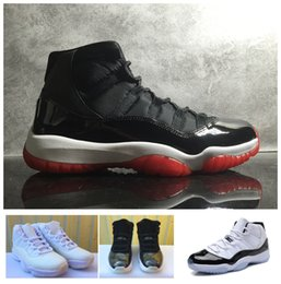 Wholesale Black Varsity - 2017 basketball shoes air retro 11 XI Citrus 72-10 white Olympic Concord Gamma Blue Varsity Red Navy Gum basket Ball Black Red sneakers
