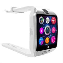 Wholesale Cell Phone Mobile Wrist Watch - Bluetooth Smart Intelligent Mobile Phone Watch Q18 Wristwatch Waterproof Apro Hansfree Support SIM Card Camera For Cell Phone Sleep Monitor