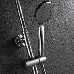 Wholesale Shower Head For Wall - 50P2 High Quality ABS Plastic polished Wall-mounted Handheld Shower Head for Bathroom High Pressure Water Saving Shower Heads