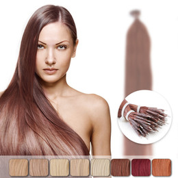 Wholesale Cheap Bead Hair Extensions - Neitsi Cheap 20'' Straight Nano Ring Beads Loop Human Hair Extension 50g lot 1g s 10Colors Choices Highlight Brazilian Remy Hair