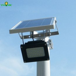 Wholesale Solar Pole Lights - Wholesale- Waterproof Outdoor Solar Floodlight 54 LED Spotlight Focused Solar LED Flag Light with Hardware for Flag Poles For Wall Driveway