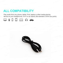Wholesale Ipad Audio Plug - 3.5mm Stereo Aux Cable for iPhone 1M 3Ft Audio Male Extension Cable Plug for Car Iphone IPad MP3