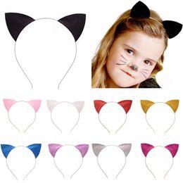 Nuova moda ragazza orecchie da gatto fascia per bambini fascia per capelli gatto fascia per capelli accessori per capelli per bambini da