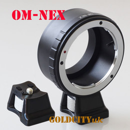 Wholesale Tripod Mounting Ring - Wholesale- OM Mount Lens To E mount nex Adapter ring with Tripod Stand for NEX NEX-3 C3 5 5N 6 7 5T A7 A7II A7r A3000 A5000 A6000 camera