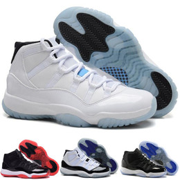 Wholesale Football Boots Free Shipping - Free Shipping New Model High Quality Airs Retro 11 XI Space Jams Legend Blue Men's Basketball Sport Footwear Sneaker Trainers Shoes