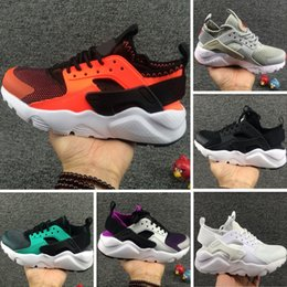 Wholesale Boys Shoes 12 - New Kids Shoes Nake AirHuarache Sneakers Shoes For Boys Grils Authentic All White Children's Trainers Huaraches Sport Running Shoes