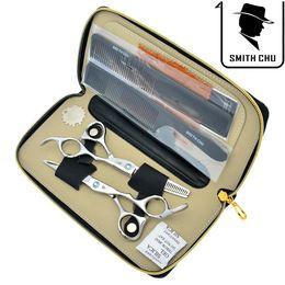 Tesouras smith chu on-line-6.0 Polegada SMITH CHU JP440C Melhor Tesoura de Cabeleireiro Tesoura de Cabeleireiro Set Salão Profissional de Corte Emagrecimento Tesouras para Casa ou Salão, LZS0077