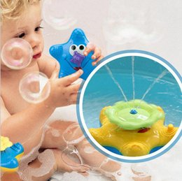 Wholesale Plastic Swimming Pools - Rotating Floating Starfish Baby Bath Toy Swim Pool Toy Water Fountain Bathtime Toy Water Spray Toys OOA3118