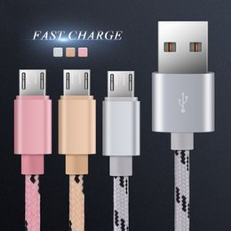 Wholesale Iphone Charge Cables - Micro USB Cable magnetic charging Data Charger Sync fast charging for samsung galaxy S7 edge S8 plus huawei xiaomi Android