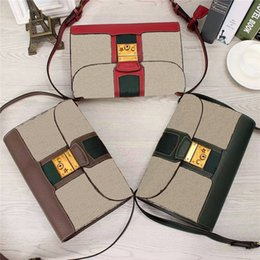 Wholesale Fine Coffee - Genuine Leather Lady Shoulder Bags Flap Small Elegant Womens Hand Bags Fashion Fine Womens Bags 441984