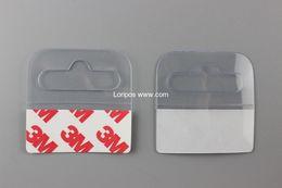 Wholesale Box Tab - Self-adhesive PEThangers peghook Merchandising Hanger Tabs Round Hole Bulk box bag holder plastic display reinforced sticky hang