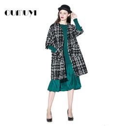 Wholesale Midi Dress Designs - 2017 Winter Women Fashion Sweaters Striped Pattern Pockets Design Long Style Cotton Women's Clothing V-Neck Half Sleeve Sweaters
