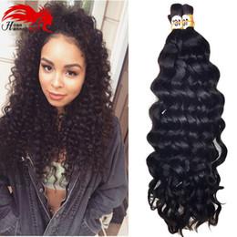 Wholesale Lavender Products Wholesale - Hannah product 3pcs 150gram Deep Curly Bulk Hair For Braiding No Attachment Deep Cruly Wave Brazilian Human Braiding Hair Bulk Lavender Hair