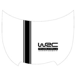 Wholesale Vinyl Materials - 120 cm*20 cm Customization WRC Stripe Car Covers Vinyl Racing Sports Decal Head car sticker for ford focus VW cruze renault accessories