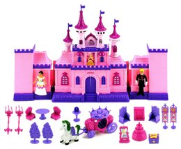 Wholesale Toys 34 - My Beautiful Castle 34 Toy Doll Playset w  Lights Sounds Prince and Princess Horse Carriage Castle Play House Furniture Accessories #123-846