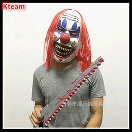 Wholesale Adult Joker Costumes - Funny TOY Free Shipping Joker Clown Costume Mask Creepy Evil Scary Halloween Clown Mask Fun Joker Head Mask free size