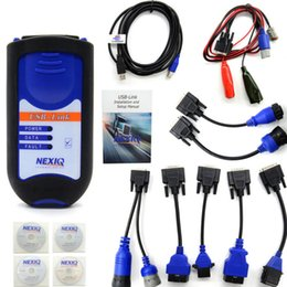 Wholesale Truck Scanners - NEXIQ Bluetooth Heavy Duty Truck Scanner Nexiq 125032 USB Link With All Adapters Nexiq USB Link Better Than DPA5 DHL Free