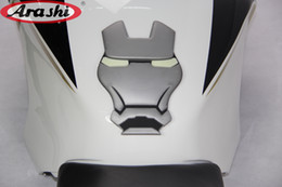 Wholesale Bmw Tank Pad - New Style 3D Iron Man Gas Tank Pads Protector Decal Motorcycle Sticker Accessories For BMW R1200GS LC Adventure For KTM Universal