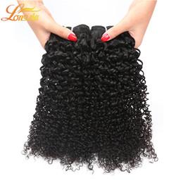 Wholesale Cheap Pc Brazilian Hair - Brazilian Kinky Curly Human Hair 4 Pcs Brazilian Human Hair Curly Bundles Cheap Human Hair 100g Bundles Natural Color Free Shipping