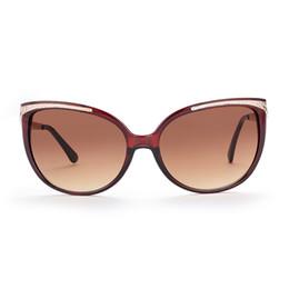 Wholesale Deep Frames - Outdoor sports sunglasses for women Cat's eye polarized sunglasses Deep tea gradually tea UV400 with Glasses cloth bag box GS87-2