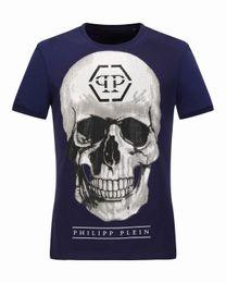 Wholesale Large Tee Shirt Men - Brand New Summer Mens 3D T-Shirts Large Skulls Printed Polos Shirts Originals Homme Short Sleeve Slim Elastic Navy Tee shirts