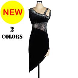 Wholesale Latin Dance Dress Women Salsa - CAD124- 2017 New Women Latin Dance Dress with Inner Underwaer Sleeveless Samba Dance Costumes Tango Salsa Dress Samba Costume Rhinestones