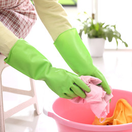 Wholesale Latex Rubber Clothes - Kitchen Skin-care Cleaning Gloves Rubber Gloves for Washing Dishes or Clothes Waterproof Household Tools Anti Slip Rubber