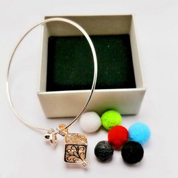 Wholesale Tin Perfume - Scented Perfume Oil Diffuser Chain DIY Volcanic Stone Bracelet