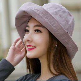 Wholesale Women Summer Anti Uv Hat - Women Bowknot Sun Hat, Design Summer Beach Fisherman Hats, Anti-UV Sun Protection Bucket Hat Cap For Girl Sunhat