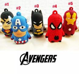 Wholesale Iron Man Anime - The Avengers Captain American anime superhero spiderman batman Iron Man, Thor IRON MAN PVC keychain 3D 3-4cm figures key chain
