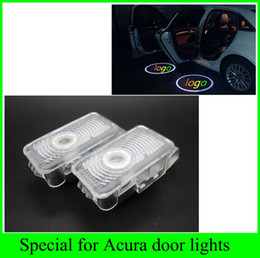 Wholesale Door Ghost Lights - 2pcs 2016 newest 1 set for Honda Acura MDX ZDX TL RLX Automobiles car light source LED door welcome lights laser projector logo ghost shadow