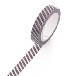 Argentina Al por mayor-2016 W-Free envío 8mm * 7m clásico blanco y negro washi cinta adhesiva decorativa (1 lote = 6 piezas) supplier decorative shipping tape Suministro