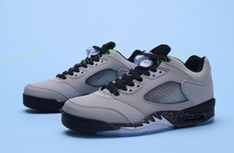 Wholesale Wolf Table - Discount Sale 2017 Air Retro 5 V Low Wolf Grey Man Basketball Shoes High Quality Wholesale Men Sizes 40-47 Free Shipping Sneakers
