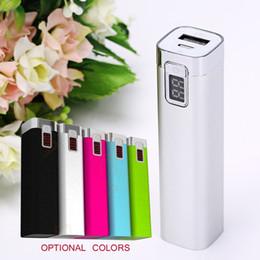 Wholesale External Battery 1a - Mini Handheld 2600mah 5v 1A Mobile Phone Power Bank External Battery Charger 18650 Powerbank External Backup Battery Led Digits