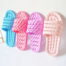 Wholesale Massage Slippers For Women - Wholesale-10%OFF!!Hot Selling Summer Sandals Family Slippers Indoor Women Home Non-slip Massage Bathroom Slippers for Women