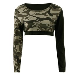 Wholesale Top Blouse Pant Set - Wholesale- Daddy Chen Women Tracksuit Camouflage Stitching Sweatshirt Sets Sportswear Suit Blouse Long-sleeve Tops and Pants Size S M L XL